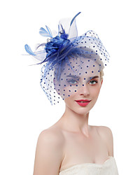 cheap -Women's Kentucky Derby Sweet Fashion Head Jewelry Wedding Party - Solid Colored Floral / Linen / Mesh / All Seasons