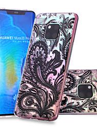 cheap -Case For Huawei Huawei Nova 3i / Huawei P smart / Huawei P Smart Plus Pattern Back Cover Lace Printing Soft TPU
