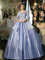 cheap -Queen Elizabeth Victorian Rococo Baroque 18th Century Square Neck Dress Outfits Party Costume Masquerade Women's Costume Blue Vintage Cosplay Party Prom 3/4 Length Sleeve Floor Length