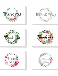cheap -Side Fold Wedding Invitations 24 - Thank You Cards Artistic Style Pure Paper