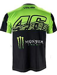 Недорогие -motogp футболка верховая езда мотоцикл vr46 рыцарь локон хлопок с коротким рукавом гоночный костюм футболка
