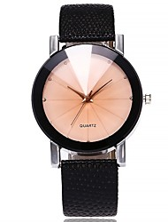 cheap -Women's Wrist Watch Quartz Quilted PU Leather Black Chronograph New Design Casual Watch Analog Ladies Bangle Fashion - Black Beige One Year Battery Life / Imitation Diamond / SSUO 377