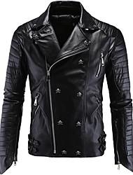 abordables -AOWOFS Y998 Vêtements de moto Veste pour Homme faux cuir Printemps & Automne / Hiver Imperméable / Résistant / Protection