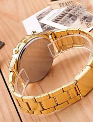 cheap -Couple's Wrist Watch Quartz Gold Casual Watch Cool Analog Elegant Minimalist - Gold