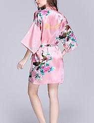 abordables -Faux Soie Robes de Chambre Mariage Personnalisé