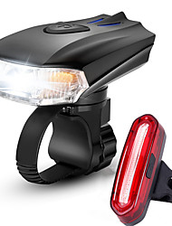 cheap -LED Bike Light Rechargeable Bike Light Set Front Bike Light Rear Bike Tail Light Mountain Bike MTB Bicycle Cycling Waterproof Multiple Modes Smart Induction Light Sensor Rechargeable Li-Ion Battery