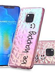 cheap -Case For Huawei Huawei Nova 3i / Huawei P smart / Huawei P Smart Plus Pattern Back Cover Word / Phrase Soft TPU