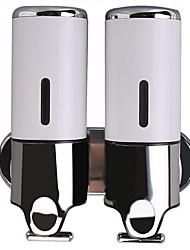 Недорогие -дозатор мыла новый дизайн / современный металлический настенный дозатор шампуня 480мл