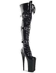 cheap -Women's Boots Sexy Boots Stiletto Heel / Platform Buckle / Lace-up Patent Leather / Leatherette Fashion Boots / Club Shoes Fall / Winter Black / Gray / Black / White / Party & Evening