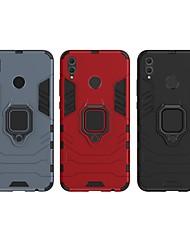 Недорогие -Кейс для Назначение Huawei Huawei Honor 8X Защита от удара / Кольца-держатели Кейс на заднюю панель Однотонный / броня Твердый ПК