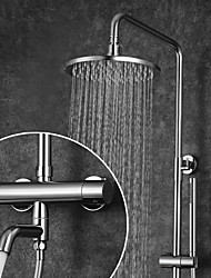 cheap -Shower Faucet / Bathroom Sink Faucet - Contemporary Chrome Wall Mounted Ceramic Valve Bath Shower Mixer Taps / Brass / Two Handles Two Holes