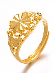 cheap -Women's Classic Ring Adjustable Ring Gold Plated Ladies Luxury Hyperbole Fashion Ring Jewelry Gold For Wedding Gift