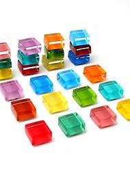 abordables -Pack de 24 aimants pour réfrigérateur aimants pour réfrigérateur mignons cuisine aimants colorés aimants décoratifs pour bureau magnets amusants aimants en verre tableau blanc effaceurs à sec