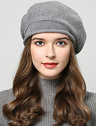 cheap -Wool Hats with Cap / Solid 1 Piece Wedding / Daily Wear Headpiece