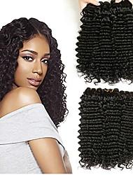 cheap -3 Bundles Peruvian Hair Deep Wave Human Hair Unprocessed Human Hair Wig Accessories Headpiece Natural Color Hair Weaves / Hair Bulk 8-28 inch Natural Color Human Hair Weaves Fashionable Design Lovely