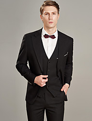 cheap -Solid Colored Tailored Fit Wool / Polyster Suit - Peak Single Breasted Two-buttons / Suits