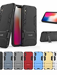 cheap -Case For Apple iPhone XS Shockproof / with Stand Back Cover Solid Colored Hard PC