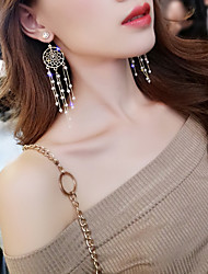 cheap -Women's Drop Earrings Hollow Out Ladies Korean Pearl Rhinestone Platinum Plated Earrings Jewelry Gold For Evening Party 1 Pair