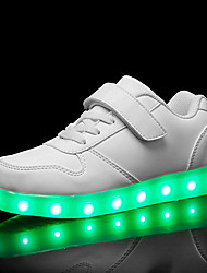 cheap -Boys USB Charging  LED / LED Shoes PU Sneakers Toddler(9m-4ys) / Little Kids(4-7ys) / Big Kids(7years +) LED Black / White / Royal Blue Summer / Rubber