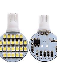 Недорогие -2pcs T10 Мотоцикл / Автомобиль Лампы 1 W SMD 3528 80 lm 24 Светодиодная лампа Лампа поворотного сигнала / Внутреннее освещение Назначение Универсальный Универсальный Универсальный