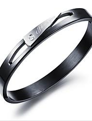 cheap -Men's White Cubic Zirconia San Marco Bracelet Classic Fashion Initial Titanium Steel Bracelet Jewelry Black / Rose Gold For Gift Daily
