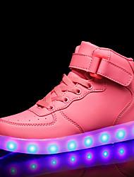 cheap -Women's Sneakers Low Heel Round Toe PU Sweet / Minimalism Fall & Winter Black / White / Red