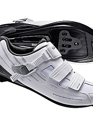 cheap -Road Bike Shoes Nylon, Fiberglass, Air-flow vents, Non-Slip tread Breathable Cushioning Ventilation Cycling / Bike Cycling Shoes White Men's Cycling Shoes / Ultra Light (UL) / Breathable Mesh