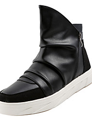 cheap -Men's Fashion Boots PU Fall Casual Boots Breathable Mid-Calf Boots Black / White