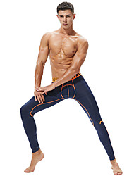cheap -Men's Running Tights Elastic Waistband Elastane Sports Winter Tights Leggings Running Fitness Workout Breathable Moisture Wicking Soft Solid Colored Black Dark Grey Light Grey Dark Blue / Stretchy