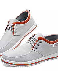 cheap -Men's Comfort Shoes Canvas / Linen Fall Casual Sneakers Non-slipping Black / Blue / Gray
