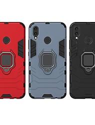 Недорогие -Кейс для Назначение Huawei Huawei Nova 3i Защита от удара / Кольца-держатели Кейс на заднюю панель Однотонный / броня Твердый ПК