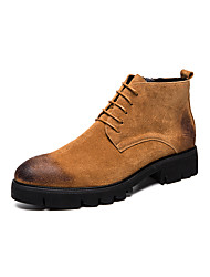 cheap -Men's Fashion Boots PU Spring / Fall & Winter Casual / British Boots Booties / Ankle Boots Black / Yellow / Gray / Party & Evening
