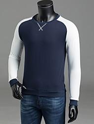 abordables -Homme Col Arrondi Manches Longues Sweatshirt Bloc de Couleur / Automne