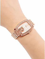 cheap -Women's Wrist Watch Diamond Watch Gold Watch Quartz Stainless Steel Silver / Gold / Rose Gold 30 m Water Resistant / Waterproof Creative Analog Ladies Vintage Fashion - Gold Silver Rose Gold