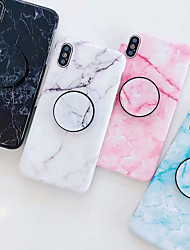 cheap -Case For Apple iPhone XS / iPhone XR / iPhone XS Max with Stand / IMD / Pattern Back Cover Marble Soft TPU