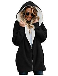 cheap -Women's Plus Size Hoodie Solid Colored Street chic Blue Blushing Pink Camel Khaki Green Gray S M L XL XXL XXXL XXXXL XXXXXL / Spring / Fall / Winter