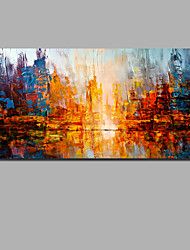 cheap -Oil Painting Hand Painted Abstract Landscape Comtemporary Modern Stretched Canvas / Rolled Canvas With Stretched Frame