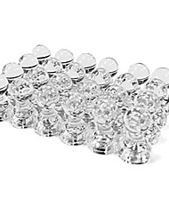 cheap -24 Clear Magnetic Push Pins Perfect for Maps Whiteboards Refrigerators Bulletin Boards