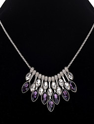 cheap -Women's Synthetic Amethyst Necklace Ladies Stylish Classic Alloy Silver 45+5 cm Necklace Jewelry 1pc For Party / Evening Daily