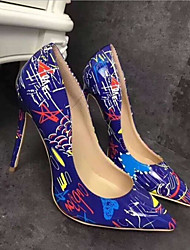 cheap -Women's PU(Polyurethane) Spring Casual Heels Stiletto Heel White / Black / Blue