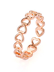 cheap -Ring Classic Gold Silver Copper Alloy Heart Hollow Heart Ladies Simple Classic 1pc Adjustable / Women's / Tail Ring