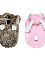 cheap -Dogs Cats Costume Winter Dog Clothes Pink Coffee Costume Dalmatian Beagle Pug Plush Solid Colored Bear Rabbit / Bunny Party Cosplay S M L XL XXL