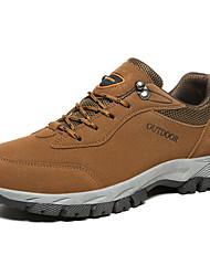 cheap -Men's Hiking Shoes Anti-Slip Comfortable Running Hiking Team Sports Autumn / Fall Winter Dark Grey Army Green Brown