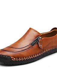abordables -Homme Chaussures en cuir Cuir Nappa Printemps été / Automne hiver Britanique / Preppy Mocassins et Chaussons+D6148 Marche Noir / Brun claire / Brun Foncé