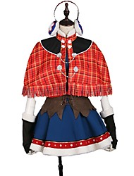 cheap -Inspired by Love Live Cosplay Anime Cosplay Costumes Japanese Cosplay Suits Lines / Waves / Mixed Color Dress / Cloak / More Accessories For Unisex