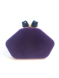 cheap -Women's Crystals Suede Evening Bag Black / Wine / Purple