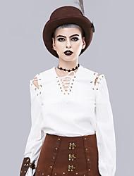 cheap -Goddess Vintage Blouse / Shirt Women's Costume White Vintage Cosplay Long Sleeve