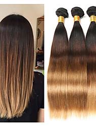 Недорогие -3 Связки Малазийские волосы Прямой человеческие волосы Remy Накладки из натуральных волос 8-26 дюймовый Ткет человеческих волос Мягкость Лучшее качество Новое поступление Расширения человеческих волос