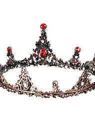 cheap -Tiaras Forehead Crown Crown Masquerade Vintage Gothic Lolita Beaded Baroque Chrome Artificial Gemstones For Black Swan Cosplay Women's Girls' Costume Jewelry Fashion Jewelry / Crystal / Crystal
