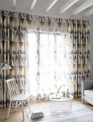 cheap -Two Panel American Style Printed Curtain Living Room Bedroom Dining Room Study Curtain